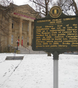 The old Lexington public library makes an appearance in Joseph Anthony's Bluegrass Funeral.