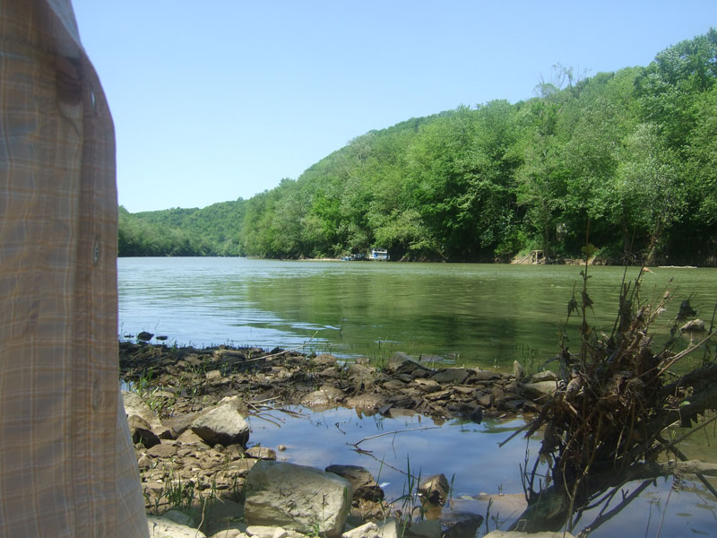 May 2006 hike down Minter's Branch to Kentucky River. Photo by Danny Mayer.