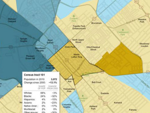 "From the NY Time's ""Mapping the 2010 Census."" http://projects.nytimes.com/census/2010/map?hp"