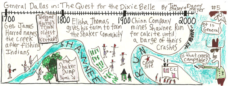 "From the General Dallas comic strip ""The quest for the Dixie Belle"" by Tim Staley."