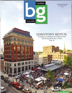 Downtown Revival. Front cover to area publication.