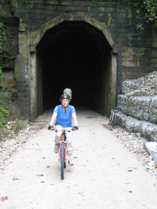 Patty emerges from Dawkins Tunnel. Photo by Dave Cooper.